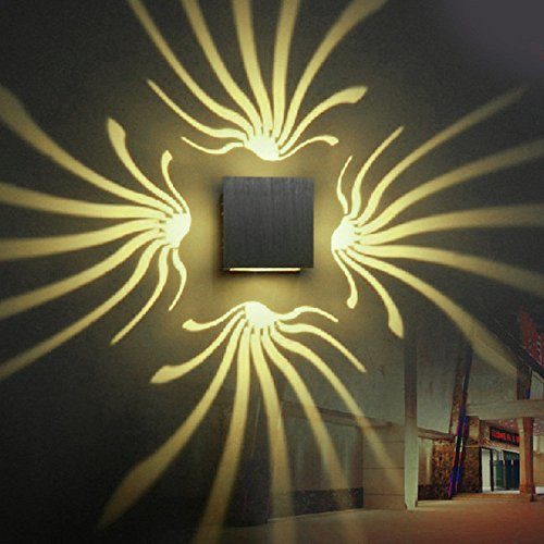 hte Aluminium Wandleuchte Dekoration Lampe 3 Watt LED Für Gang Schlafzimmer Korridor Veranda KTV BAR AC85-265V ( Color : Warm White ) ()