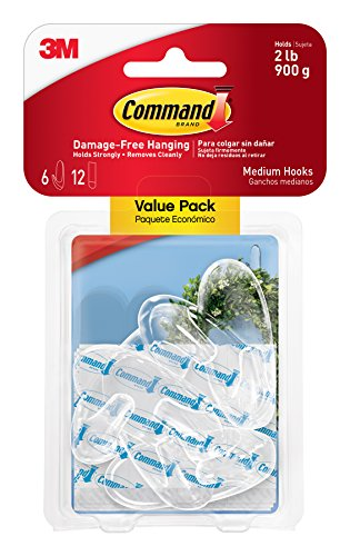 clear-hooks-strips-plastic-medium-6-hooks-w-12-adhesive-strips-per-pack-sold-as-one-pack