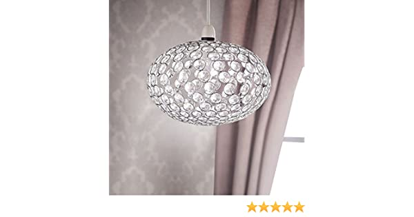 Easy Fit Drum Shade With Droplets Victorian Style Ceiling