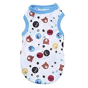 Sundautumn T-shirt/Vêtement/Gilet Animation pour Chien/Chat- Vêtements pour Chien Chihuahua avec Motif Intéressant, Bleu, Taille S