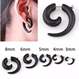 Fake Ear Stretchers Spiral Punk Gothic S...
