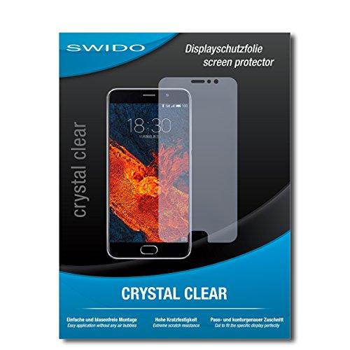 SWIDO Bildschirmschutz für Meizu Pro 6 Plus [4 Stück] Kristall-Klar, Hoher Härtegrad, Schutz vor Öl, Staub & Kratzer/Schutzfolie, Bildschirmschutzfolie, Panzerglas Folie