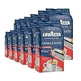 Lavazza Kaffee Crema E Gusto, gemahlen, geeignet für Mokka Herdkanne, 12 Pack, 12 x 250g