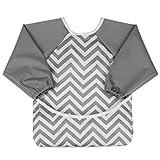 aviloo - Ärmel-Lätzchen für Babys - 100% wasserdicht und abwischbar - extra lang - mit Auffang-Tasche und Klettverschluss
