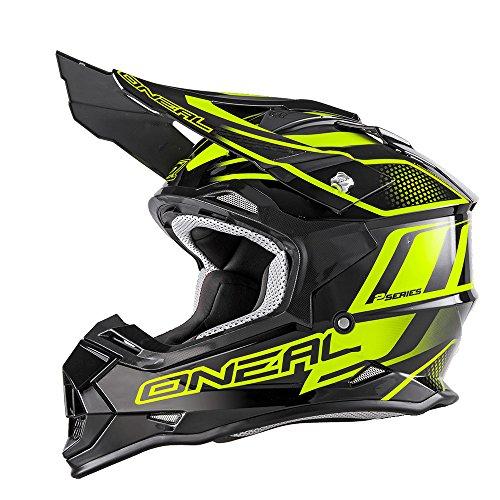 0200-023 - Oneal 2 Series RL Manalishi Motocross Helmet M Black Neon Yellow
