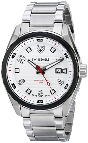 Swiss Eagle Men's SE-9063-33 Engineer Analog Display Swiss Quartz Silver Watch