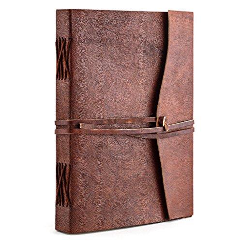 A.P. Donovan - Tagebuch Leder Notiz-Buch leer zum reinschreiben - Reisetagebuch - Diary - Braun, A5