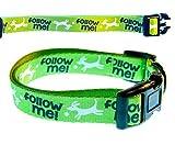 Bow & ArrowTM Pointe Pet Funny Hundehalsband 'Follow me' Soft Nylon Hundehalsband, Verstellbar, Medium