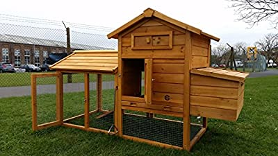 Cocoon Chicken Coop Chicken Coops Hen chicken House Ark Poultry Run Nest Box Rabbit Hutch - Integrated Run & Cleaning Tray & Innovative Locking Mechanism (NO SHIPING TO NORTHERN IRELAND, ISLANDS, SCOTTISH HIGHLANDS) by Cocoon