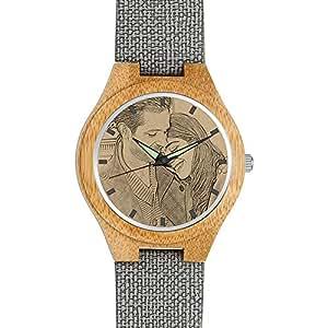 soufeel personalisierte holz armbanduhr holzuhr mit gravur