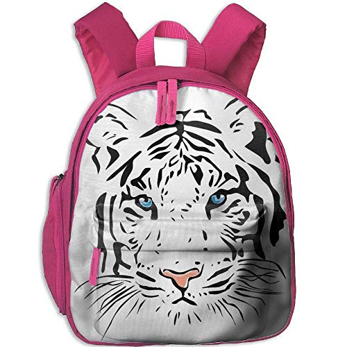 Kids Boys&Girls Backpack with Pocket Tattoo Decor Language of Love Musical Note Inspiration On Sheet with Rose Hearts Full White Black and Pink