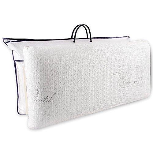 aqua-textil Cadiz Viscokissen 70x36x15 cm Visco Kopfkissen orthopädisches Gelschaum Nackenkissen 1000009