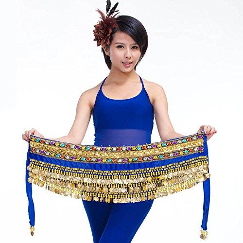 3rangées Belly Dance Hip Écharpe Wrap ceinture Jupe danseuse pour pièces Style 6