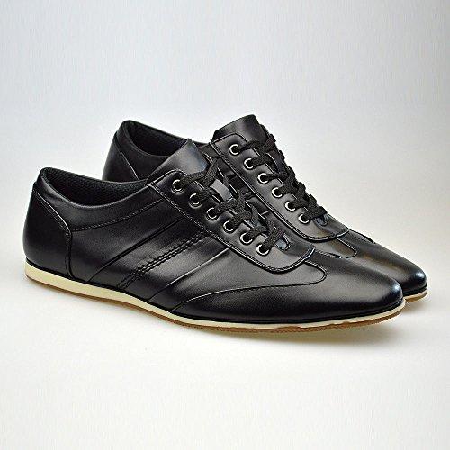 Macdonald Sporrans New Fashion Casual à lacets en cuir noir-Taille 6, 7, 8, 9, 10 11 - Noir