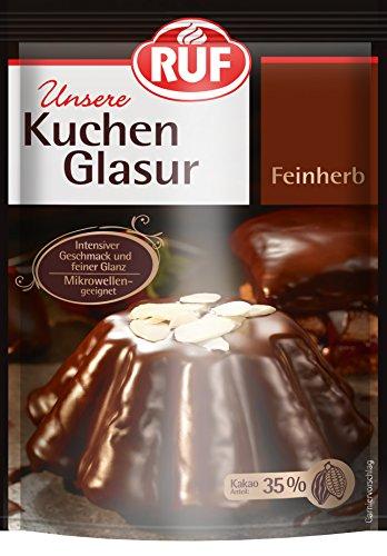 RUF Kuchen-Glasur Feinherb, 12er Pack (12 x 100 g)