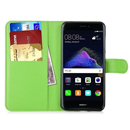 Preisvergleich Produktbild Huawei P8 Lite 2017 Hülle, IVSO Hohe Qualität Advanced Shock Absorption Technology Case Folio Tasche Cover für Huawei P8 Lite 2017 Smartphone (Für Huawei P8 Lite 2017, Grün)