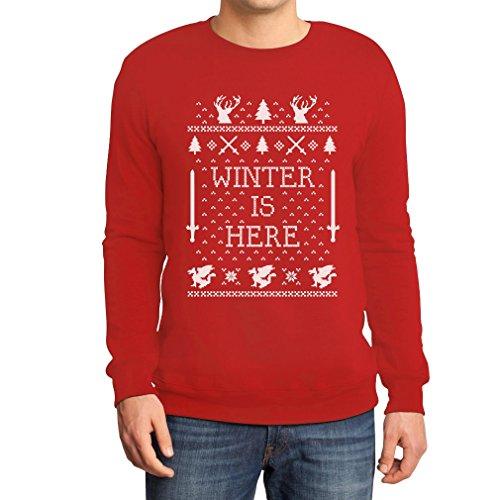 Winter Is Here - Weihnachtsmotiv GOT Sweatshirt Rot