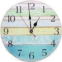 Asvert Reloj de Pared retro de Mecanismo Silencioso (Díametro 34cm)