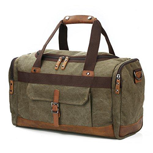 BLUBOON Canvas Reisetasche Vintage Weekender Damen Herren Segeltuch Handgepäck
