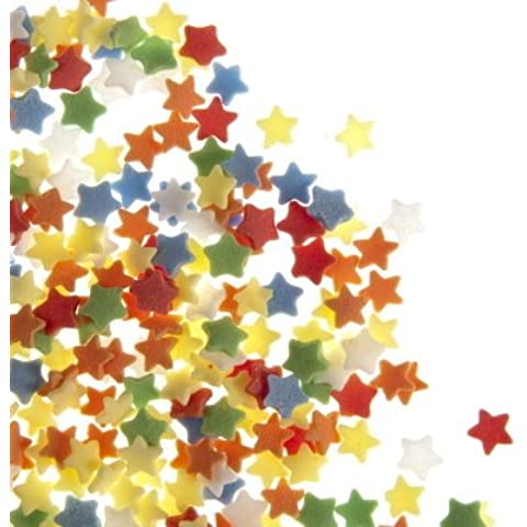Coriandoli di Zucchero a Forma di Stella Colori Assortiti (57g)