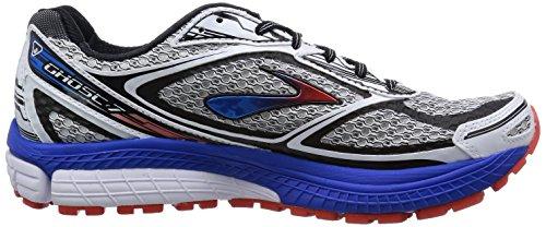 Brooks Ghost 7, Chaussures de Running Homme Blanc (weiß/schwarz/blau 113)