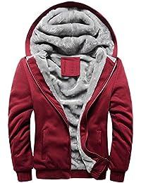 SHINEHUA Fleecejacke Damen Winter Jacke Parka Winterjacke Teddyfell Gef/üttert Sweatjacke mit Kapuze Warme Kapuzenjacke Langarm Hooded Sweatshirt Jacke Mantel Outwear