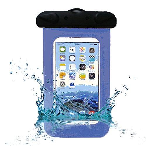 RotSale® 1x 6,0 Zoll Blau Handy Wasserfeste Taschen Smartsphone Kamera Wasserdichte Beachbag Schützhülle (Huawei P6 Touch Bildschirm)