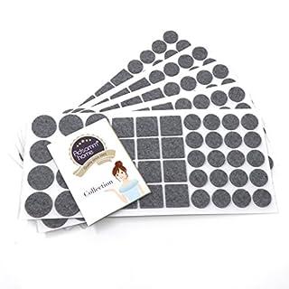 Adsamm® | 220 x Filzgleiter | Grau | verschiedene Größen | Ø 28 mm | Ø 20 mm | 25x25 mm | 3.5 mm starke selbstklebende Filz-Möbelgleiter in Top-Qualität