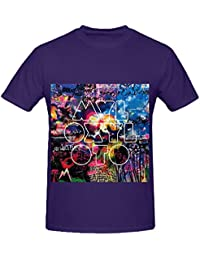 Coldplay Mylo Xyloto 80s Album Cover Men Crew Neck Cool T Shirt XXXX-L