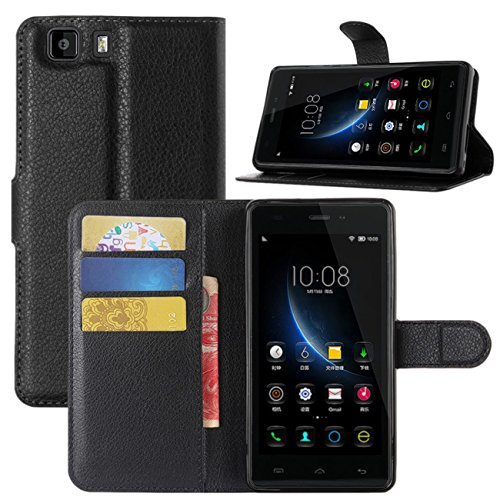 Doogee X5 Hülle, Doogee X5 Pro Hülle, HualuBro [All Around Schutz] Premium PU Leder Wallet Flip Handy Schutzhülle Tasche Case Cover mit Karten Slot für Doogee X5 / X5C / X5S / Doogee X5 Pro Smartphone (Schwarz)