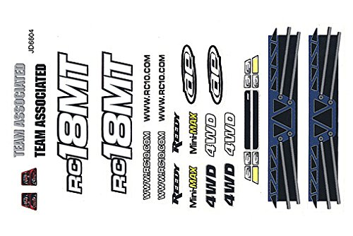 Team Associated AE21076 - 18MT Decal Sheet and Window Masks, Color