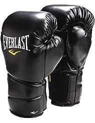 Everlast Protex 2 - Guantes de boxeo para hombre, tamaño 16, color negro / gris