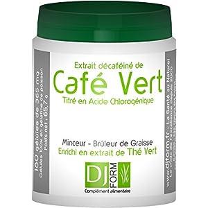 Grüner Kaffee Extrakt – 180 Kapseln – Abnehmen, Fettverbrenner und Gewichtskontrolle – Hergestellt in Frankreich