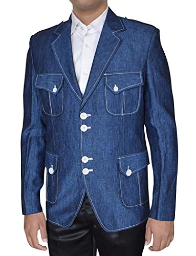 INMONARCH -  Giacca - Uomo Denim Blue