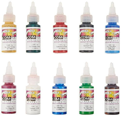 Medea iwata kit b com-art 10 colori aerografo coprenti 28 ml