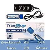 Searchyou True Blue Mini Crackhead Pack avec 64G 101 Jeux pour Playstation Classic