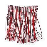 Décorative pour enfant Unisexe Pour adulte Angleterre Jupe gazon en été-Rouge Blanc Taille unique Accessoires beach Party On fancy dress Déguisement pour femme Taille élastique