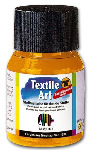 Nerchau 144304 - Textile Art Stoffmalfarbe für dunkle Stoffe, 59 ml, Orange