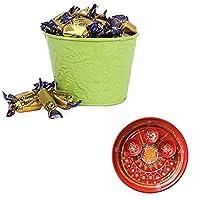 SFU E Com Holi Chocolate Basket Hamper   Holi Special Chocolate Gift   Premium Chocolate Hamper   Holi Pooja Thali   Pack of Chocolate Box-1   281