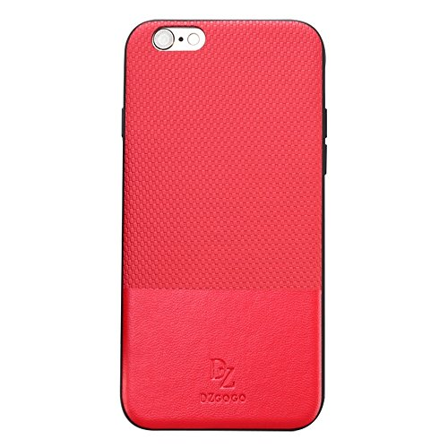 Mobiltelefonhülle - DZGOGO LUXURY Serie für iPhone 6 & 6s TPU + PC Business Style Lederbekleidung Schlagkombination Schutzhülle ( Farbe : Braun ) Rot