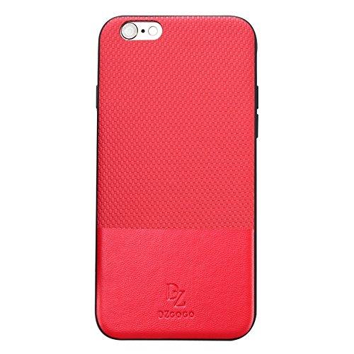 MXNET Fall für iPhone 6 u. 6s TPU + PC Geschäfts-Art-Lederbekleidung-Schlag-Kombinations-Schutz-Fall ,Iphone 6/6s Case ( Color : Black ) Red