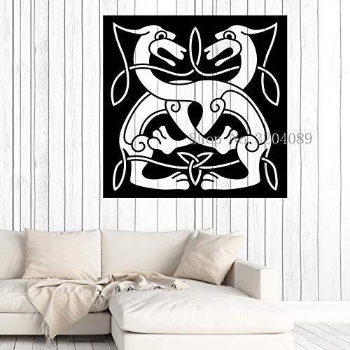 zqyjhkou Große Vinyl Aufkleber Wandaufkleber Dekoration Wohnzimmer Abstrakte Tier Paar Hund Niedlichen Stil Bild Kunst Wandbilder Geschenk Yy616 42x42 cm