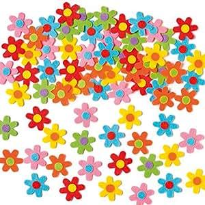 Baker Ross Selbstklebende Filz-Blumen zum Basteln für