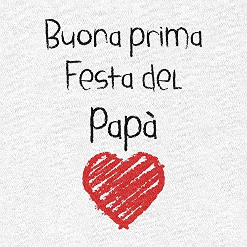 Buona Prima Festa del papà – Regalo per Il Padre Body Neonato Manica Lunga 3-6 Mesi Bianco - 2