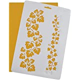 Asian Hobby Crafts Craft Stencils for Sketching, Scrapbooking, Kids Crafts, Floral (A4)