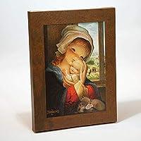 Cuadro Virgen ventana 30x40cm. Ilustración de Juan Ferrándiz impresa en lienzo. Serie limitada y numerada. Regalo Comunión y Bautizo