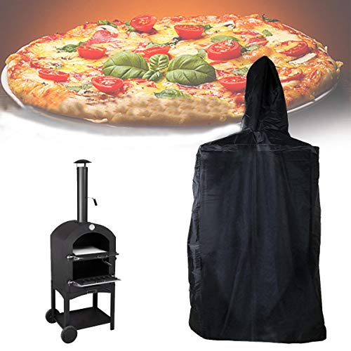 Anddod 160x37x50cm Outdoor Pizza Oven Cover Cooking Stove Waterproof Dust Rain UV Proof Protector Rain Protector