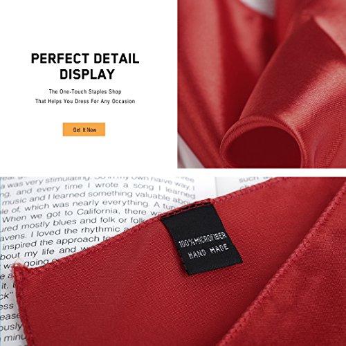 DAN SMITH - Mouchoir - Uni - Homme DEIE0008-Red, Orange, Royal Blue, Dark Green, Dark Grey