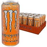 Monster Energy Ultra Sunrise Energy Drink mit erfrischendem, süßem Geschmack, ohne Zucker & mit wenig Kalorien Dosen-Palette, EINWEG (24 x 500 ml)