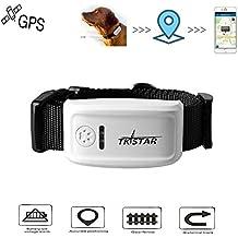Hangang Collar GPS Perros Pet GPS Tracker con Collar, Dog Anti Lost GPS Tracking Localizador